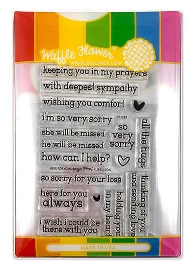 Waffle Flower HERE FOR YOU COMBO Clear Stamps and Die Set WFC219 zoom image