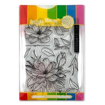 Waffle Flower MAGNOLIA COMBO Clear Stamp and Die Set WFC216