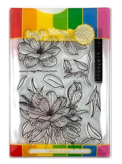 Waffle Flower MAGNOLIA COMBO Clear Stamp and Die Set WFC216 zoom image