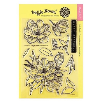 Waffle Flower MAGNOLIA Clear Stamps 271216