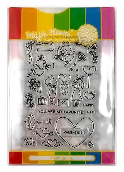Waffle Flower FAVORITE VALENTINE COMBO Clear Stamp and Die Set WFC220 zoom image