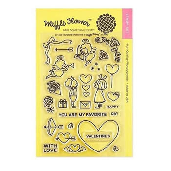 Waffle Flower FAVORITE VALENTINE Clear Stamps 271220