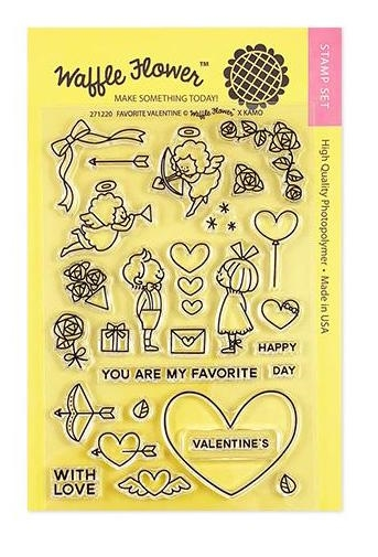 Waffle Flower FAVORITE VALENTINE Clear Stamps 271220 zoom image