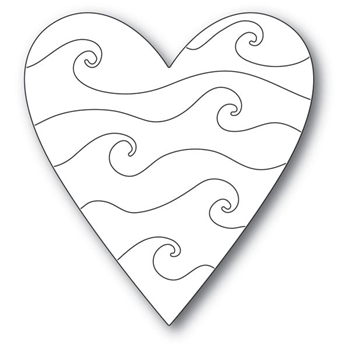 Poppy Stamps WAVY HEART Craft Die 2169