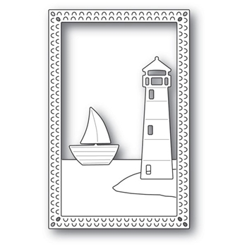 Poppy Stamps LIGHTHOUSE FRAME Craft Die 2171