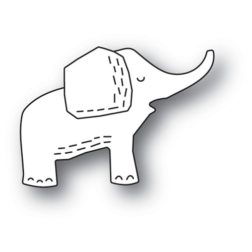 Poppy Stamps WHITTLE ELEPHANT Craft Die 2158 Preview Image