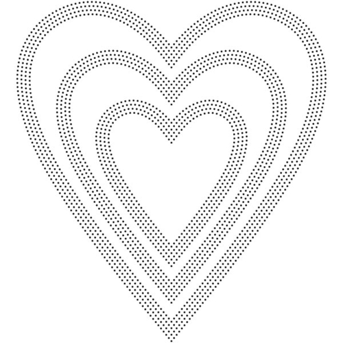 Poppy Stamps PINPOINT HEARTS Craft Die 2162 Preview Image
