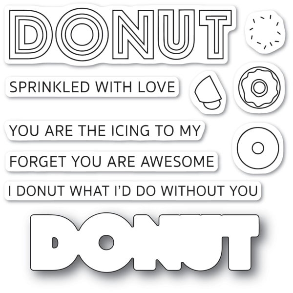 Poppy Stamps DONUT WHAT I'D DO Die and Stamp Set cl475 zoom image