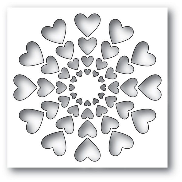 Memory Box BRIGHT HEARTS Craft Die 94120 zoom image
