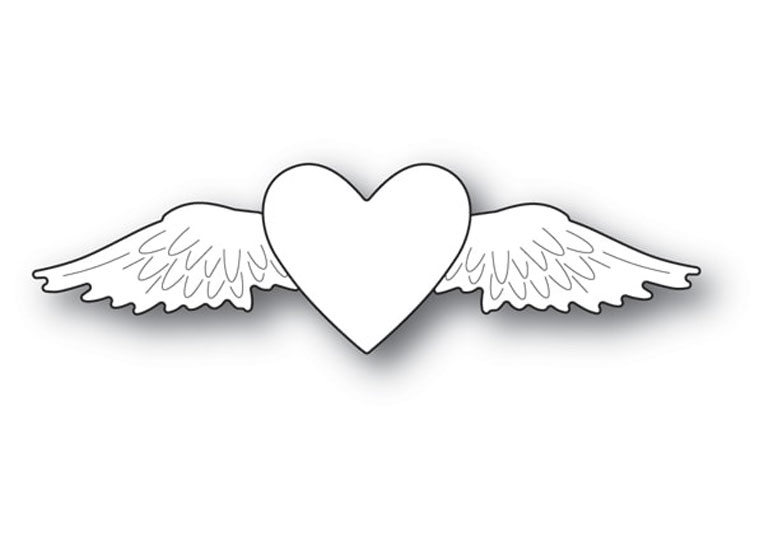 Memory Box WINGED HEART Craft Die 94108 zoom image