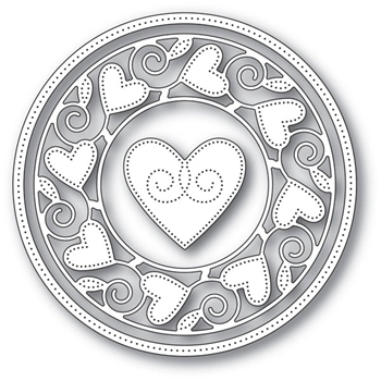 Memory Box PINPOINT HEART CIRCLE FRAME Craft Dies 94106