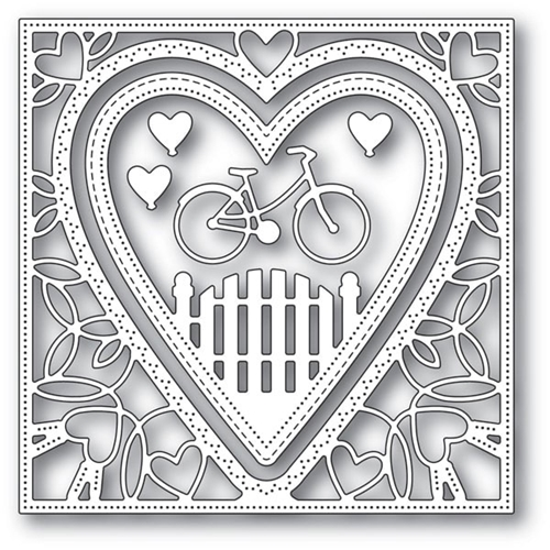 Memory Box NEIGHBORHOOD HEART FRAME Craft Dies 94102 Preview Image