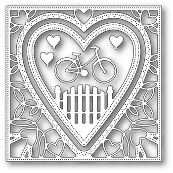 Memory Box NEIGHBORHOOD HEART FRAME Craft Dies 94102
