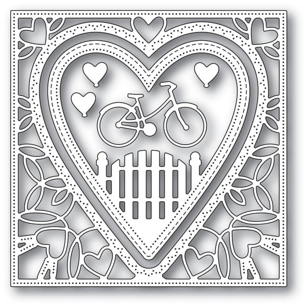 Memory Box NEIGHBORHOOD HEART FRAME Craft Dies 94102 zoom image