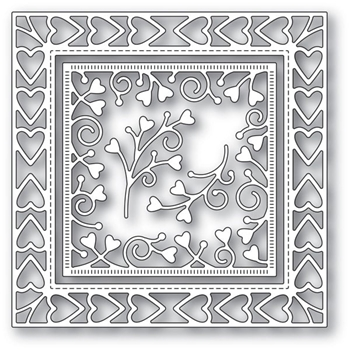 Memory Box HEART BORDER FRAME Craft Dies 94118