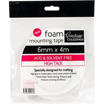 Couture Creations 6mmx4m FOAM MOUNTING TAPE co721962