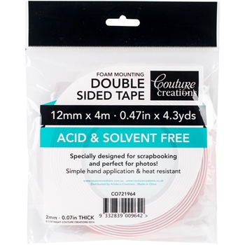 Couture Creations 12mmx4m FOAM MOUNTING TAPE co721964