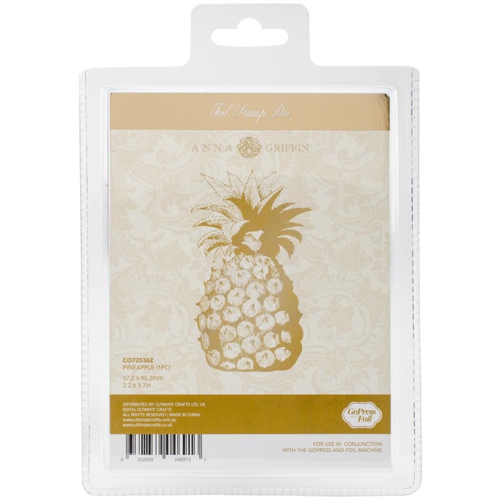 Couture Creations PINEAPPLE Hotfoil Stamp Anna Griffin co725362 zoom image