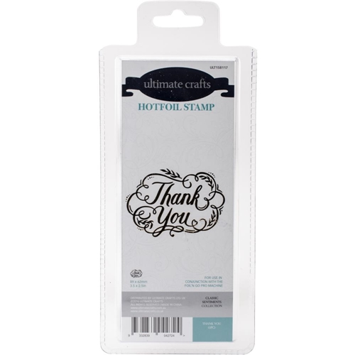 Couture Creations THANK YOU Hotfoil Stamp Ultimate Crafts ult158117 Preview Image