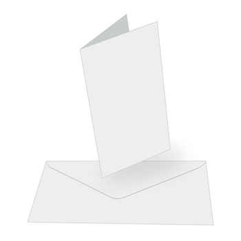 Couture Creations WHITE Tall Cards With Envelopes co724847