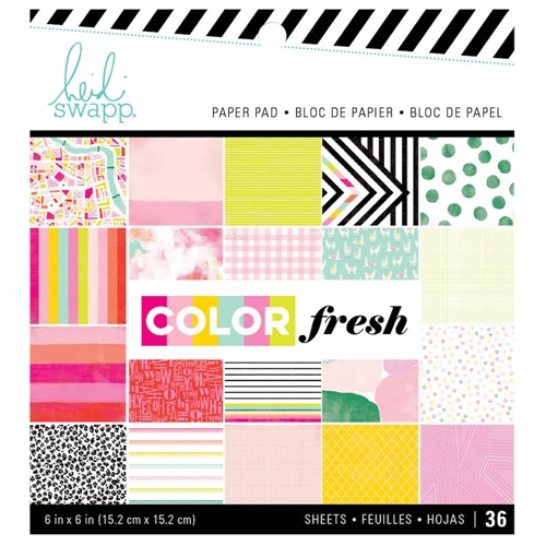 Heidi Swapp COLOR FRESH 6 x 6 Paper Pad 314555 Preview Image