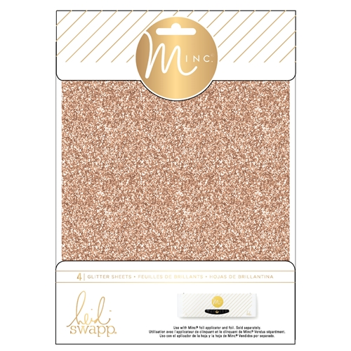 Heidi Swapp ROSE GOLD MINC 6 x 8 Glitter Sheets 314485 Preview Image