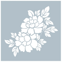Gina K Designs FLORAL Stencil 0304 Preview Image