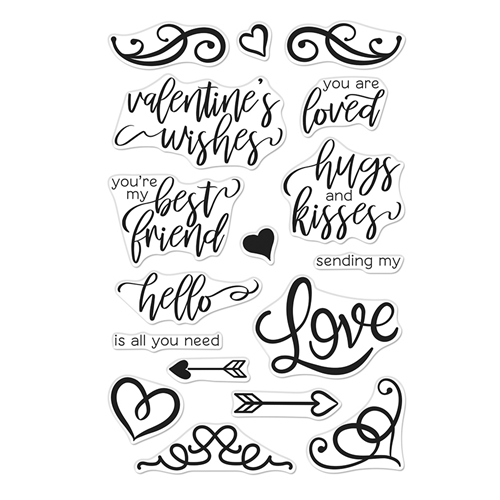 Hero Arts Clear Stamps YOU ARE LOVED FLOURISHED MESSAGES CM333 Preview Image