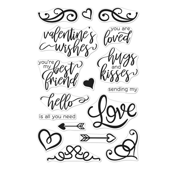 Hero Arts Clear Stamps YOU ARE LOVED FLOURISHED MESSAGES CM333