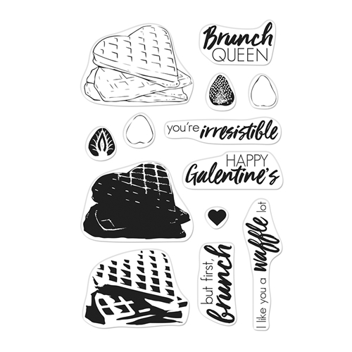 Hero Arts Clear Stamps Color Layering WAFFLES CM330 Preview Image