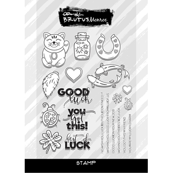Brutus Monroe Clear Stamps LUCKY YOU bru9590