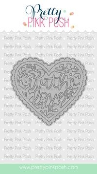 Pretty Pink Posh WITH LOVE Shaker Dies  Preview Image