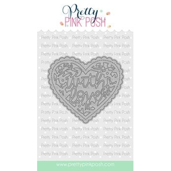 Pretty Pink Posh WITH LOVE Shaker Dies