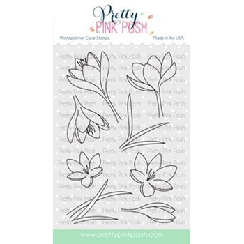 Pretty Pink Posh CROCUS FLOWER Clear Stamps