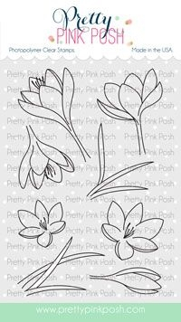 Pretty Pink Posh CROCUS FLOWER Clear Stamps zoom image