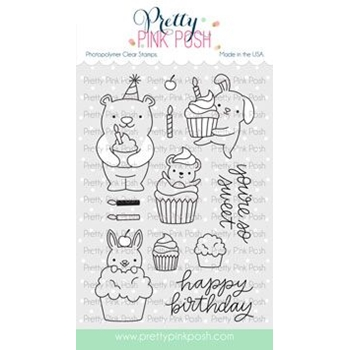 Pretty Pink Posh CUPCAKE CRITTERS Clear Stamps