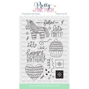 Pretty Pink Posh PINATA PARTY Clear Stamps
