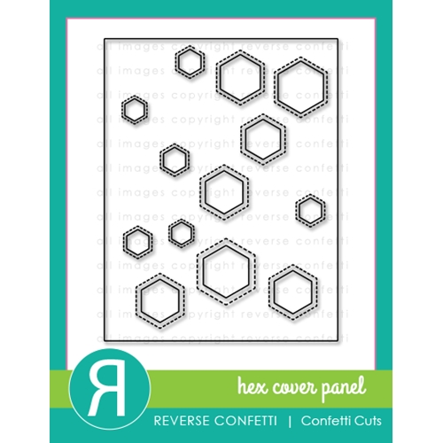 Reverse Confetti Cuts HEX COVER PANEL Die Preview Image