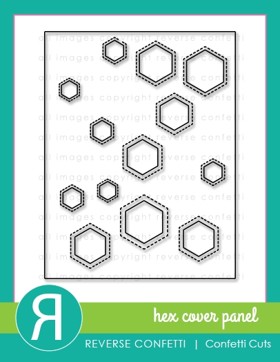 Reverse Confetti Cuts HEX COVER PANEL Die zoom image