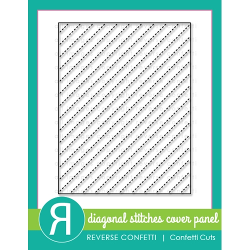 Reverse Confetti Cuts DIAGONAL STITCHES COVER PANEL Die Preview Image
