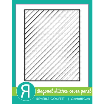Reverse Confetti Cuts DIAGONAL STITCHES COVER PANEL Die