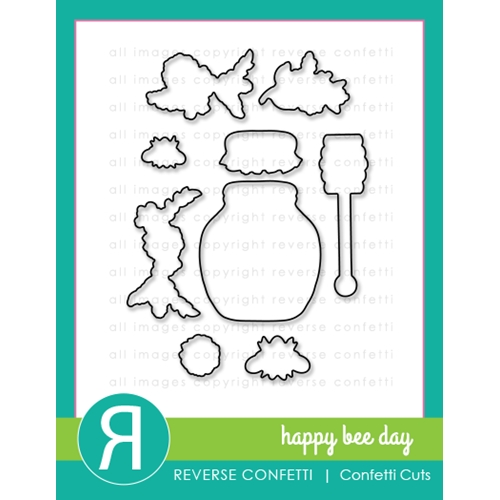 Reverse Confetti Cuts HAPPY BEE DAY Dies  Preview Image