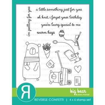 Reverse Confetti BIG BEAR Clear Stamps