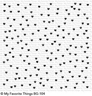 My Favorite Things SCATTERED HEARTS BACKGROUND Cling Stamp MFT BG104 Preview Image