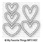 My Favorite Things LOTS OF HEARTS OUTLINES Die-Namics MFT1457 Preview Image
