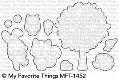 My Favorite Things WONDERFUL WOODLAND FRIENDS Die-Namics MFT1452 zoom image