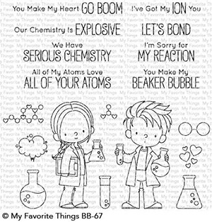 My Favorite Things CUTE CHEMISTS Clear Stamps BB67