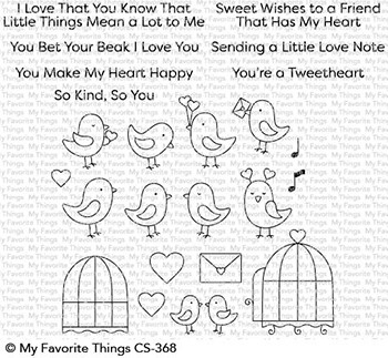 My Favorite Things TWEETHEARTS Clear Stamps CS368