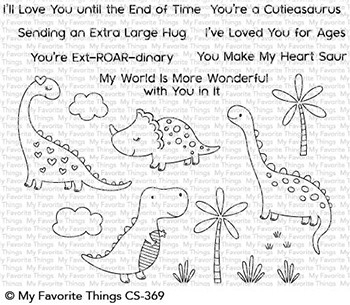 My Favorite Things CUTIEASAURUS Clear Stamps CS369