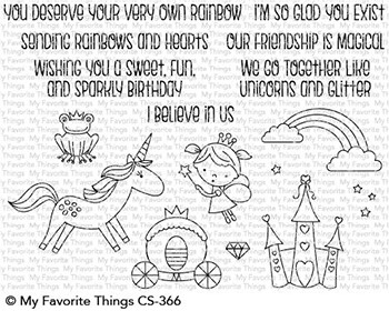 My Favorite Things RAINBOWS AND UNICORNS Clear Stamps CS366 zoom image